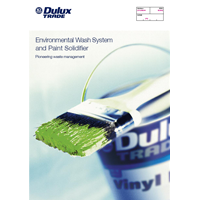 Environmental Wash System and Paint Solidifier