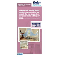 Dulux Trade Fast Matt & Supermatt Colourcard