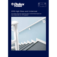 2010 High Gloss and Undercoat Specifier Brochure